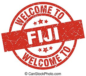 welcome to Fiji red stamp