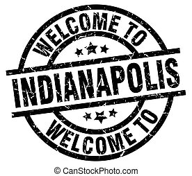 welcome to Indianapolis black stamp
