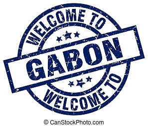 welcome to Gabon blue stamp