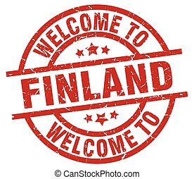 welcome to Finland red stamp