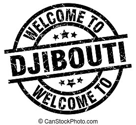 welcome to Djibouti black stamp