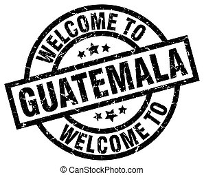 welcome to Guatemala black stamp