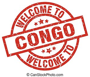 welcome to Congo red stamp