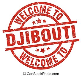welcome to Djibouti red stamp