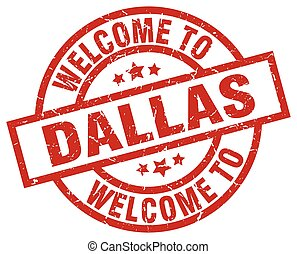 welcome to Dallas red stamp