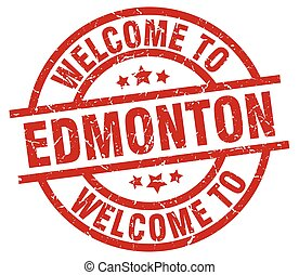 welcome to Edmonton red stamp