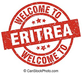 welcome to Eritrea red stamp