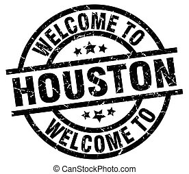 welcome to Houston black stamp