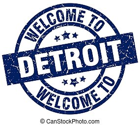 welcome to Detroit blue stamp