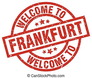 welcome to Frankfurt red stamp
