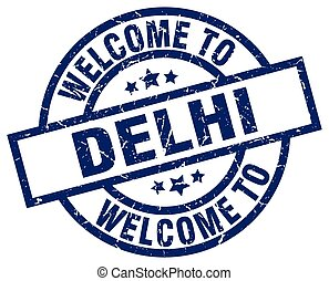 welcome to Delhi blue stamp