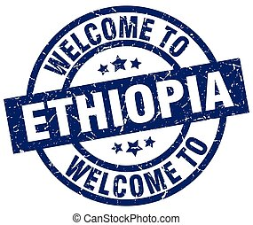 welcome to Ethiopia blue stamp