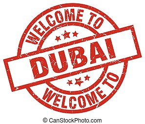welcome to Dubai red stamp