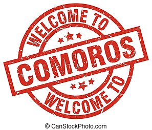 welcome to Comoros red stamp