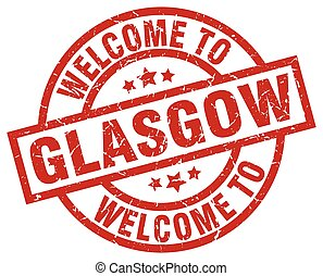 welcome to Glasgow red stamp