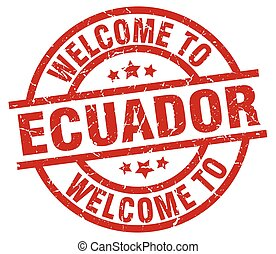 welcome to Ecuador red stamp