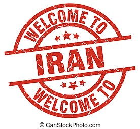 welcome to Iran red stamp
