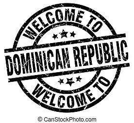 welcome to Dominican Republic black stamp