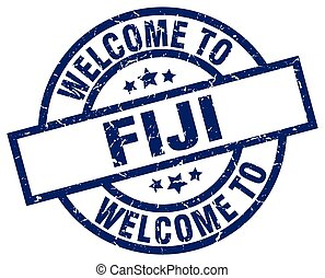 welcome to Fiji blue stamp