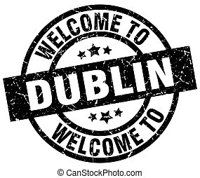 welcome to Dublin black stamp