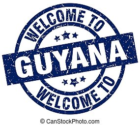 welcome to Guyana blue stamp