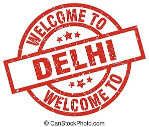 welcome to Delhi red stamp