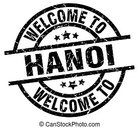 welcome to Hanoi black stamp