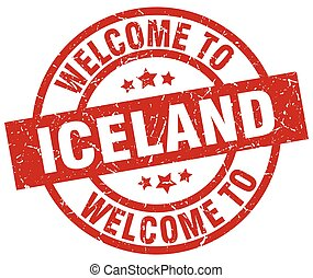 welcome to Iceland red stamp