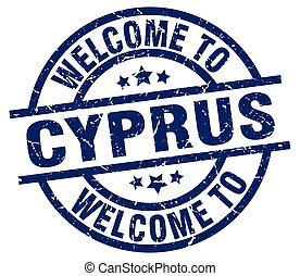 welcome to Cyprus blue stamp