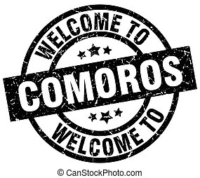welcome to Comoros black stamp