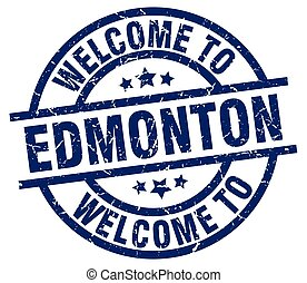 welcome to Edmonton blue stamp