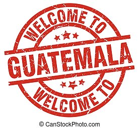 welcome to Guatemala red stamp