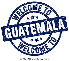 welcome to Guatemala blue stamp