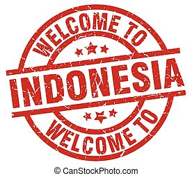 welcome to Indonesia red stamp