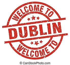 welcome to Dublin red stamp