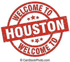 welcome to Houston red stamp