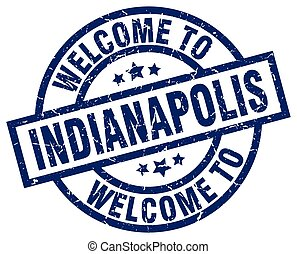 welcome to Indianapolis blue stamp
