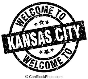 welcome to Kansas City black stamp