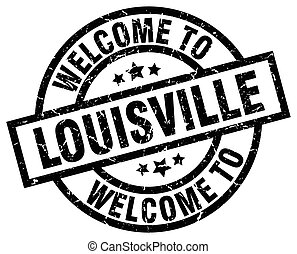 welcome to Louisville black stamp