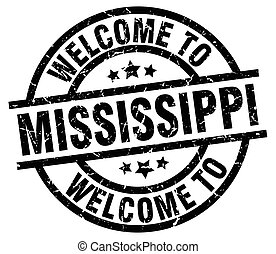 welcome to Mississippi black stamp