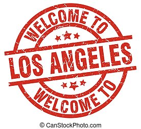 welcome to Los Angeles red stamp
