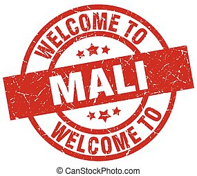 welcome to Mali red stamp