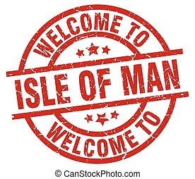 welcome to Isle Of Man red stamp