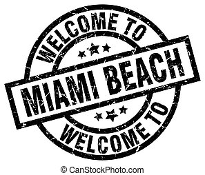 welcome to Miami Beach black stamp