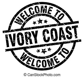 welcome to Ivory Coast black stamp