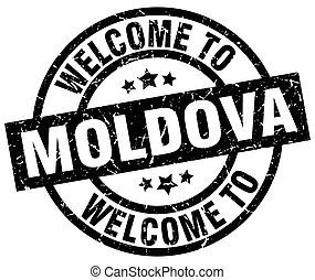 welcome to Moldova black stamp