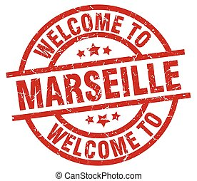 welcome to Marseille red stamp