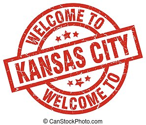 welcome to Kansas City red stamp