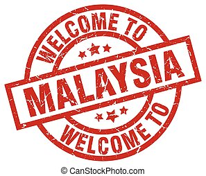 welcome to Malaysia red stamp