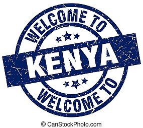welcome to Kenya blue stamp